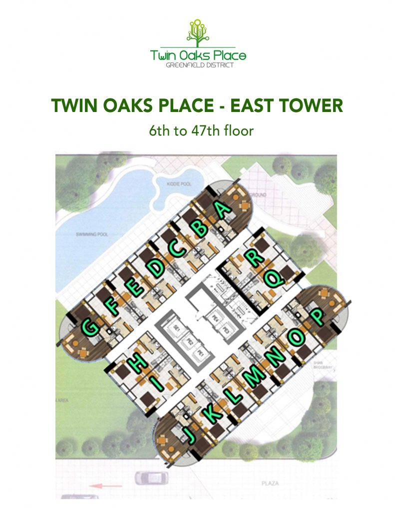 TOP East Floorplan 6th to 47th