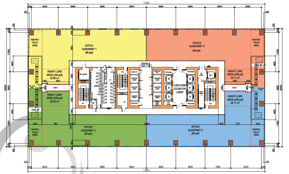Typical Subdivided Floor Plan